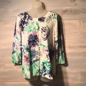NWT CHRISTOPHER & BANKS cardigan sweater Butterfly